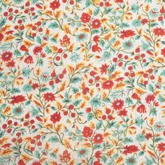 Make a splash this Spring/Summer season with this cheerful cotton red clay floral print. Of a lighter weight, this combed cotton voile, with its 60s thread count, is suitable for Spring/Summer dresses, skirts, blouses, children's wear, and curtains. For those who aren't familiar with the 60s term, it refers to the thread count of the fabric resulting in a delicate drape and soft hand. This woven cotton voile is slightly translucent and may require a lining depending on the application.