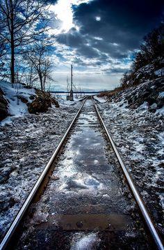 Frozen Railroad 2 is a photograph by Jerry Mattice. Source fineartamerica.com