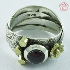 AMAZING GARNET STONE 925 STERLING SILVER RING,R5040, Sz.7.5 US #SilvexImagesIndiaPvtLtd #Statement #AllOccasions