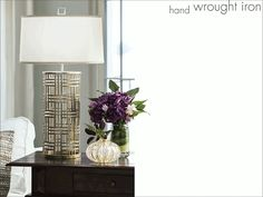 beautiful hand wrought iron table lamps; table lamps
