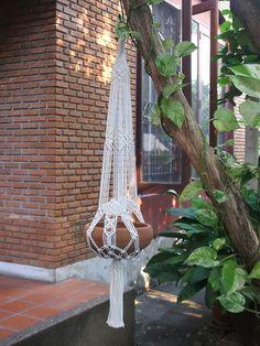 Deux bras Macramé plante cintre Coronet