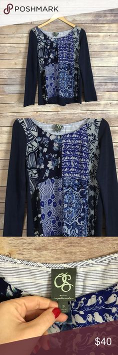 Anthropologie one September printed blouse Size small. In excellent condition! Perfect for this spring! Beautiful print! Anthropologie Tops Blouses