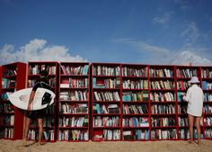 Library on the beach, France