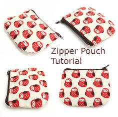 Zipper pouch tutorial.  I have an urge to make lots of these...