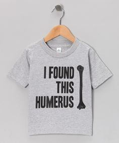 Take a look at this KidTeeZ Athletic Heather 'Humerus' Tee - Toddler & Kids on zulily today!