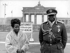 Idi Amin with wife Kay Adroa Idi Amin of Uganda with Kay Adroa Amin on visit to Berlin. A pregnant Kay would later on be killed and the body mutilated under mysterious and still debated circumstances.