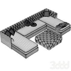 3d модели: Диваны - Диван Модульный