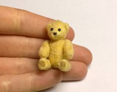 Miniature Teddy Bear Dollhouse Miniature by SaraMadeCreations