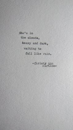 Haiku Poem vintage Typewriter poetry She's In The Clouds Poem Typed on Textured Cardstock by ChristyAnnMartine available on Etsy.