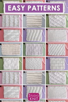 Collect simple Knit Stitch Patterns with different combinations of simple knits and purl stitches. Collect simple Knit Stitch Patterns with different combinations of simple knits and purl stitches.Perfect for Beginning Knitters! Enjoy this free collection Knitting Videos, Knitting For Beginners, Knitting Stitches, Free Knitting, Vintage Knitting, Knitting Bags, Knitting Stitch Patterns, Stitching Patterns, Start Knitting