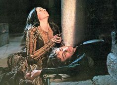 "Romeo and Juliet - The heart-ripping utterance from Juliet ""Thy lips are warm...."" as she realizes she and Romeo have missed one another by mere minutes.  In 8th grade seeing this at the movie theatre, I cried and cried."