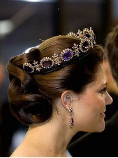 Crown Princess Victoria of Sweden wears Amethyst Tiara