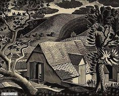 Sussex Landscape by Eric Ravilious 1933 Wood engraving (This one from Auckland Gallery) Auckland Art Gallery, Linocut, Painting, British Art, Art, Woodcut, Landscape Art, Prints, Classic Artwork