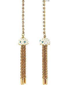 Sea Jewels Jellyfish Linear Earring by Betsey Johnson