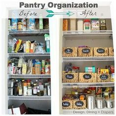 tip for organizing a pantry, closet, organizing, Pantry Before and After