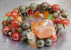 Rainforest. This beautiful bracelet was inspired by the colors of Nature.