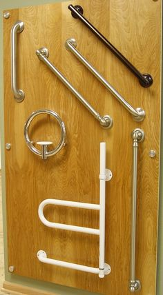 Brushed nickel, chrome or pewter, finishes for grab bars are the same as finishes on faucets and other accessories now.