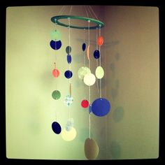 Hanging paper mobile