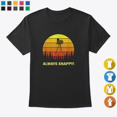 Photography Snap Pun Quote Photo Movie For Photographer Tshirt, Hoodies & Sweatshirts Unisex - Black (S, Cotton) Photography Puns, Photographer Humor, Pun Quotes, Types Of Sleeves, Short Sleeves, Types Of Collars, Pune, Hoodies, Sweatshirts