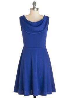 Everyday Accolades Dress in Cobalt | Mod Retro Vintage Dresses | ModCloth.com