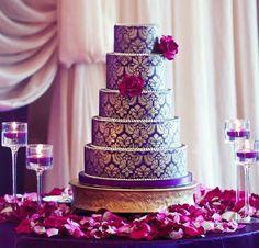 Purple vintage lace cake