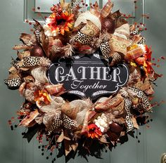 Fall Wreath, Gather Together