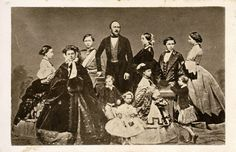 Queen Victoria and Prince Albert with all 9 children