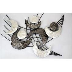 Extravagante Wanddeko im Retrostyle mit Muscheldekor, 78×60 cm