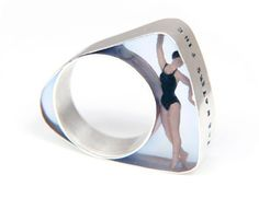 Helen Noakes  Swimmer Ring  Resin, silver, miniature model