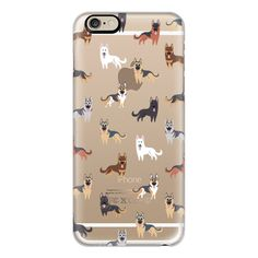 iPhone 6 Plus/6/5/5s/5c Case - German Shepherd Dogs - CLEAR (55 CAD) ❤ liked on Polyvore featuring accessories, tech accessories, iphone case, clear iphone cases, iphone cover case and apple iphone cases