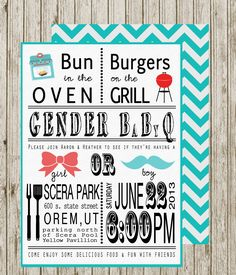 Gender reveal invite! Omg I must have these for my gender reveal party!!!