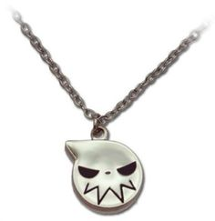 Soul Eater: Soul Eater Logo Icon Silver Necklace:Amazon:Toys Games
