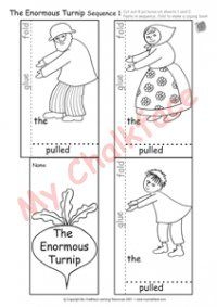 The Enormous Turnip Sequence 1 (Literacy) Harvest Activities, Farm Activities, Sequencing Activities, Year 1 Classroom, Traditional Tales, Math Vocabulary, Three Little Pigs, Cut And Paste, Project Nursery