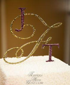 Custom monogram cake