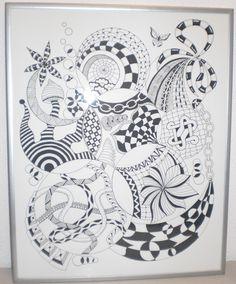 Zentangle made by Mariska den Boer 19 - 50x70 cm