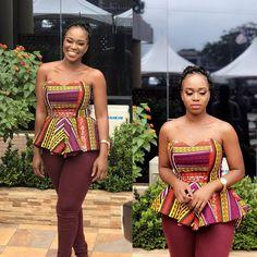 Toute femme africaine devrait avoir au moins un top en pagne wax dans sa garde robe quelque soit le pays où elle vit. Ce qui est bien avec les tops, c'est qu'ils donnent beaucoup de peps à votre tenue.