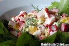 salade de goberge à la coriandre (remplacer mayo par yogourt nature grec - serait bon en sandwich)
