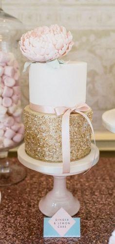 round two tiered white gold blush flower bow-tie