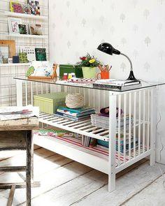 baby crib to desk