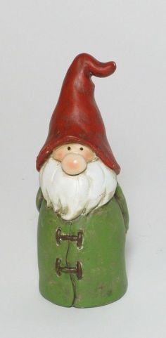 Zaunhocker Pfostenhocker Dekoration Wichtel grün- weiß- rot 14 cm hoch
