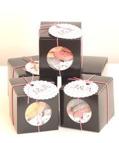 Cajas con bombones de frutas!