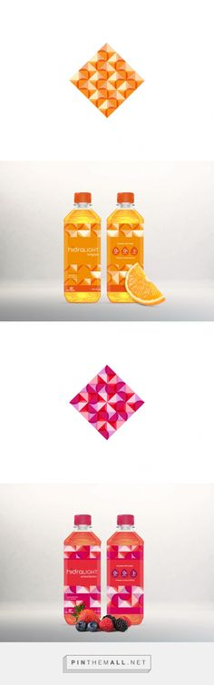 Hidralight on Behance by Karen Santiago Mexico City, Mexico curated by Packaging Diva PD.  A water brand infused with vitamins and fruit flavors made by Nutrisa and it needed a fresh packaging to appeal young consumers.