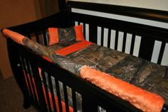 So CUTE!! Real Tree Camo Crib Bedding by Acraftload on Etsy, $200.00