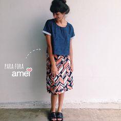 Vários jeitos @loja_amei ✨ #lojaamei #muitoamor #look #novidades #saia #blusa #cropped #etiquetaamei