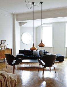 Living room of Evelina Kravaev-Söderberg, creative director of H&M Home   Elle Decor Spain