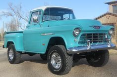 Rare 1955 Chevy 3100 short bed big window NAPCO 4x4, original 6 cylinder with dual carb and Fenton intake, 4 speed.