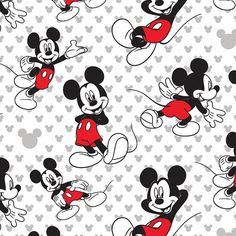 Springs Creative~Mickey Relaxed~Cotton Fabric~by the yard by SewFabricBoutique on Etsy