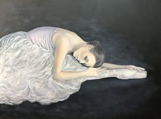 This ballet dancer oil painting was a complete challenge for me to paint and she turned out just beautifully. From her face to her pointe shoes, she was just perfection in her original monochrome, but I just wanted to see her in colour... I'm so glad I did, as it adds another dimension to this painting..