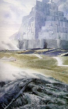 PELENNOR FIELDS AND MINAS TIRITH BY ALAN LEE