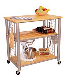 This Contempoary Kitchen Cart is perfect! Orig. $315.00, Now $234.99 #zulilyfinds